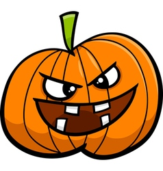 Jack o lantern cartoon vector