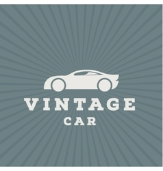 Vintage car flat high-quality logo trend vector