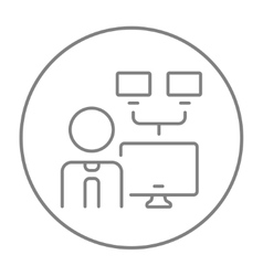 Network administrator line icon vector