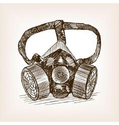 Respirator sketch style vector image