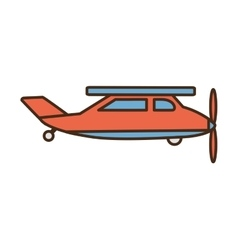 airplane vehicle flying isolated icon vector image vector image