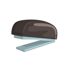 Black office stapler office tool cartoon vector