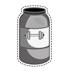 Bottle protein gym product vector