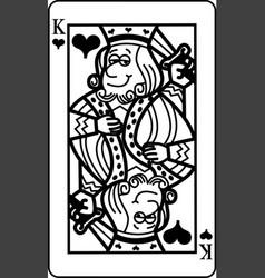 cartoon king of hearts playing card vector image