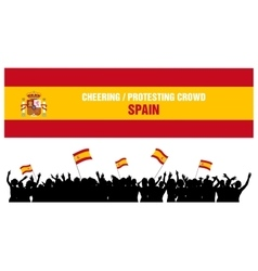 Cheering or protesting crowd spain vector