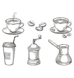 Coffee things vector image