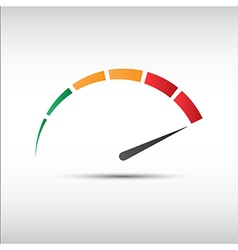 Color tachometer speedometer icon performance vector image