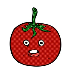 comic cartoon tomato vector image vector image