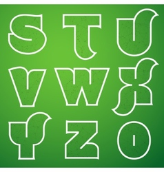 Connections Alphabet Font Set 3 S to Z vector image vector image