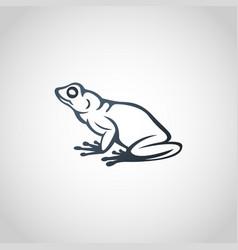 frog logo icon vector image