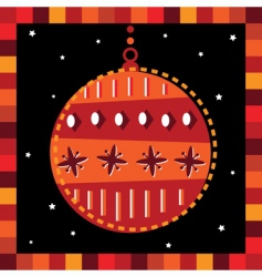 funky bauble greeting card vector image vector image