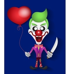 Funny clown celebration vector image vector image