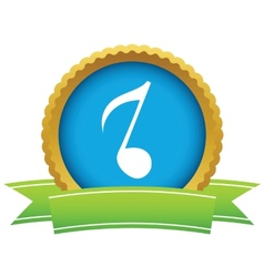 Gold musical note logo vector