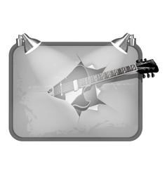 guitar breaks poster vector image