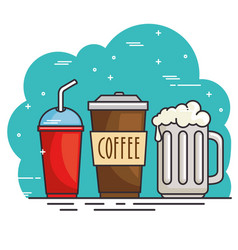 hot and cold drink design vector image