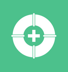 Icon lifebuoy with cross vector