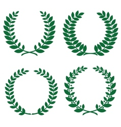 laurel wreathes vector image