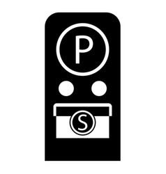 parking meter icon simple style vector image vector image