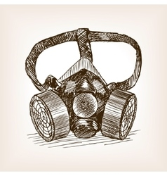 Respirator sketch style vector image