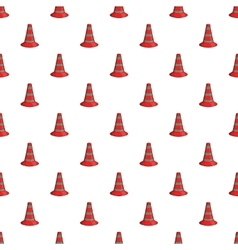 Safety cones pattern cartoon style vector