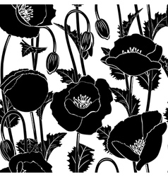 Seamless from poppies vector