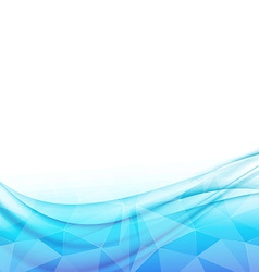 Swoosh wave modern crystal structure background vector