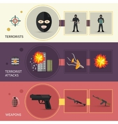 Terrorism Banners Set vector image vector image