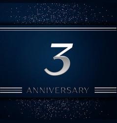 three years anniversary celebration logotype vector image vector image