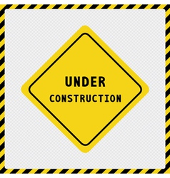Under construction sign2 vector image