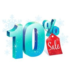 Winter sale 10 percent off vector