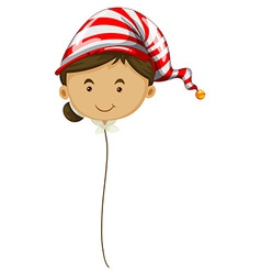 Woman head balloon on string vector