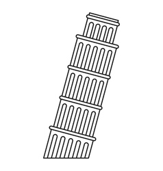 Leaning tower of pisa icon outline style vector