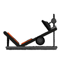 Leg press fitness related icon image vector