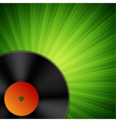 Background with vinyl record vector