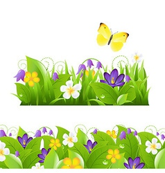 Flowers borders set vector