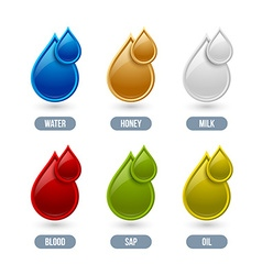 Liquid icons vector
