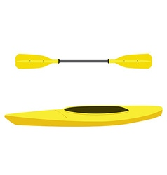 Kayak and oar vector