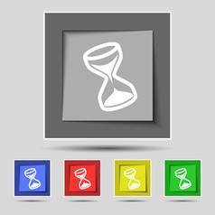 Hourglass icon sign on original five colored vector