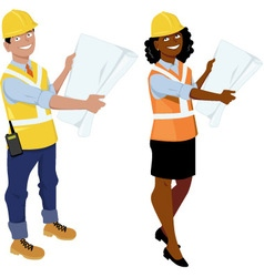 Architects or contractors vector