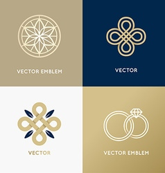 Abstract logo design templates in trendy minimal vector