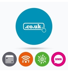 Domain couk sign icon uk internet subdomain vector