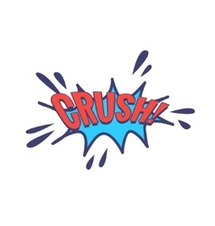 Crush comic speech bubble vector