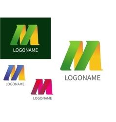 Letter M logo for Business vector image