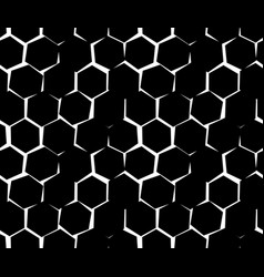 abstract pattern of unequal cracks hexagons vector image