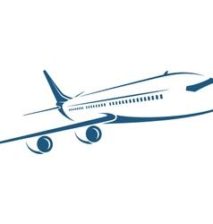 airplane emblem on white background vector image