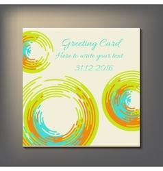 Beautiful abstract invitation card vector