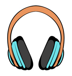 Big headphones icon cartoon vector