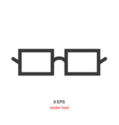 Black glasses icon on white background vector