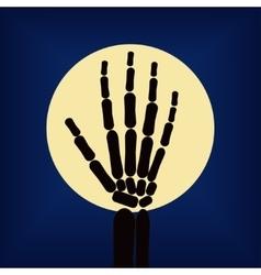 Black skeleton hand vector