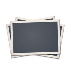 Blank retro photo frame vector